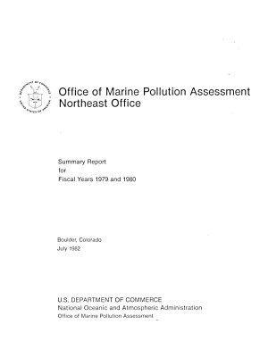 Office of Marine Pollution Assessment, Northeast Office