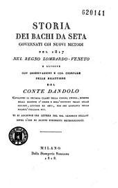 Storia Dei Bachi Da Seta Governati, Nel Regno Lombardo-Veneto...