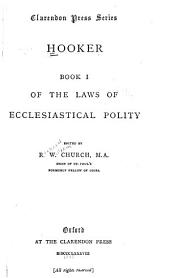 Of the Laws of Ecclesiastical Polity: Book 1