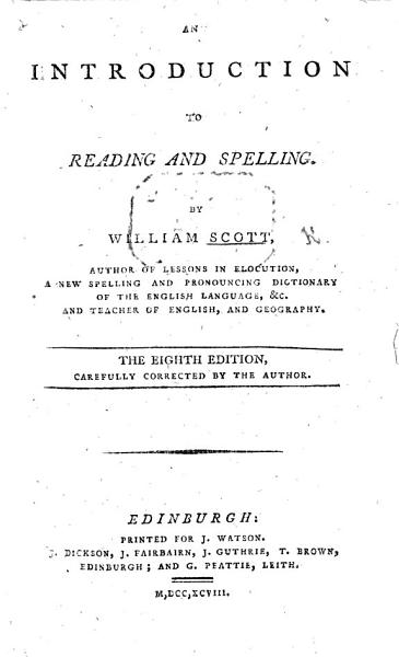 An Introduction to Reading and Spelling     Eighth edition  etc