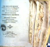 Joh. Bernardi De-Rossi ... De typographia hebraeo-ferrariensi commentarius historicus quo ferrarienses judaeorum editiones hebraicae, hispanicae, lusitanae recensentur et illustrantur