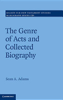 The Genre of Acts and Collected Biography PDF
