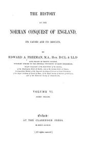 The History of the Norman Conquest of England: Index volume. 1879