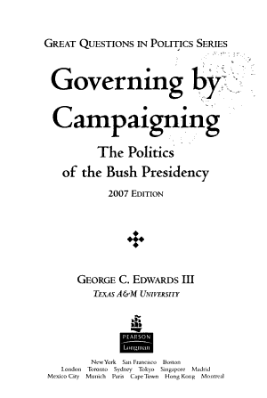 Governing by Campaigning PDF