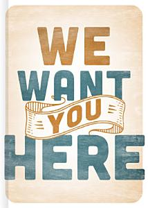 We Want You Here Book