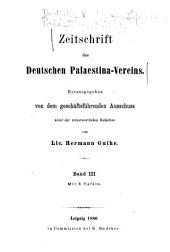 Zeitschrift des Deutschen Palästina-Vereins: Band 3