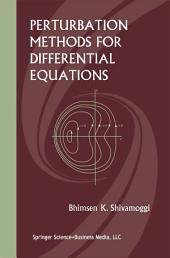 Perturbation Methods for Differential Equations