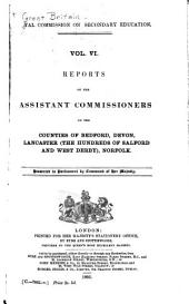 Report of the Commissioners ...: Volumes 6-7
