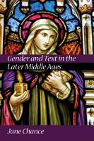 Gender and Text in the Later Middle Ages PDF