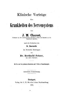 Klinische Vortr  ge   ber Krankheiten des Nervensystems PDF