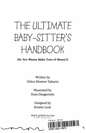 The Ultimate Baby sitter s Handbook