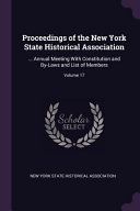 Proceedings of the New York State Historical Association      Annual Meeting with Constitution and By Laws and List of Members  PDF