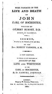 Some Passages in the Life and Death of John, Earl of Rochester