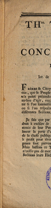 A ses concitoyens. 1793