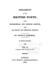 Specimens of the British Poets: Churchill, 1764 to Johnson, 1784