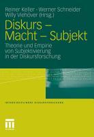 Diskurs   Macht   Subjekt PDF