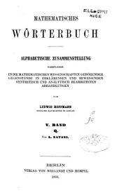 Mathematisches Wörterbuch: Band 5