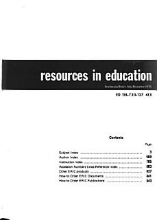 Resources in Education Book