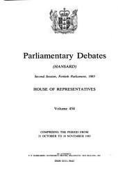 Parliamentary Debates: Volume 454