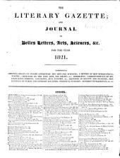 The Literary Gazette: A Weekly Journal of Literature, Science, and the Fine Arts, Volume 5