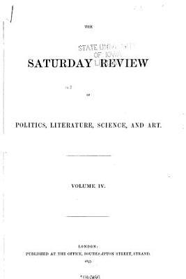 Saturday Review of Politics  Literature  Science and Art PDF