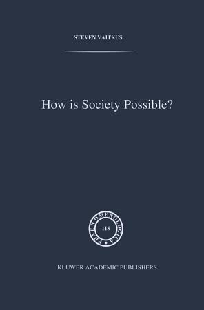 How is Society Possible  PDF