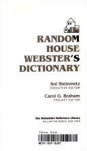 Random House Webster's Dictionary