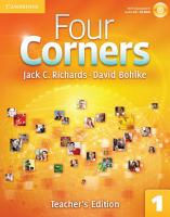Four Corners Level 1 Teacher s Edition with Assessment Audio CD CD ROM PDF