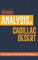 Analysis of Cadillac Desert