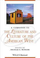A Companion to the Literature and Culture of the American West PDF