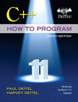 C   How to Program  Early Objects Version  PDF