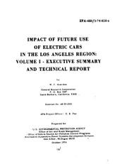 Impact of Future Use of Electric Cars in the Los Angeles Region: Executive summary and technical report