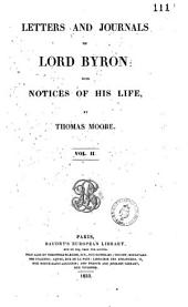 Letters and Journals of Lord Byron: With Notices of His Life, Volume 2