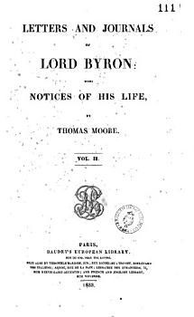 Letters and Journals of Lord Byron with Notices of His Life PDF