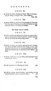 Statutes Passed in the Parliaments Held in Ireland: 1665-1712