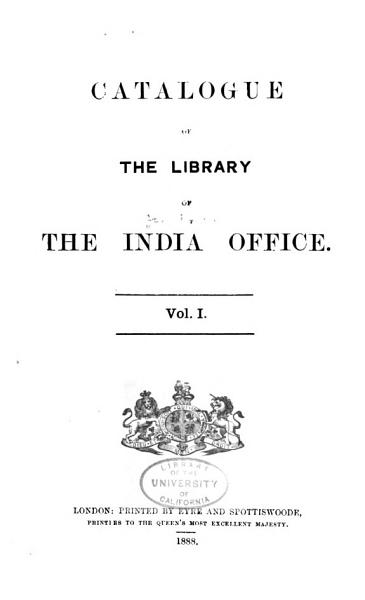 Download Catalogue of the Library of the India Office  Supplement 2  1895 1909  1909 Book