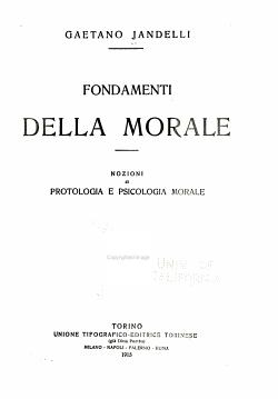 Fondamenti della morale PDF