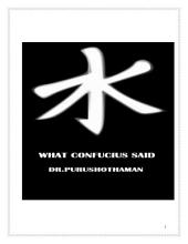 What Confucius Said