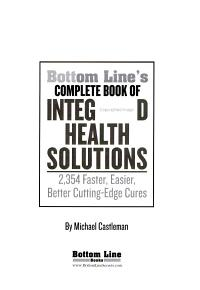 Bottom Line s Complete Book of Integrated Health Solutions PDF