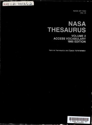 NASA Thesaurus PDF