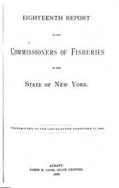 Report of the Commissioners of Fisheries of the State of New York: Volume 18, Parts 1889-1890