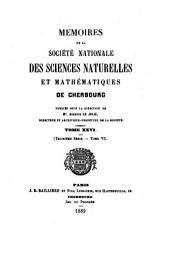 Mémoires de la Société nationale des sciences naturelles et mathématiques de Cherbourg: Volume26