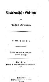 Plattdeutsche Gedichte: Band 1