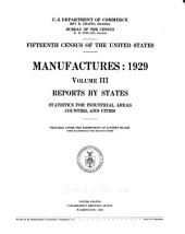 Fifteenth Census of the United States: Manufactures, 1929