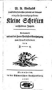 Einzeln herausgegebene kleine Schriften verschiedenen Inhalts