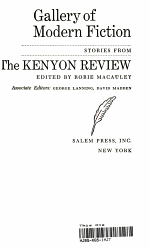 Gallery of Modern Fiction Stories From the Kenyon Review