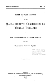 Annual report of the Massachusetts Commission on Mental Diseases of the Commonwealth of Massachusetts. 1916