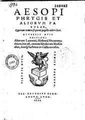 Aesopi Phrygis et aliorum fabulae... Accessit huic editioni alterum Laurentij Abstemij Hecatomythium...