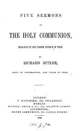 Five sermons on the holy communion
