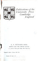 Publications of the University Press  Cambridge  England PDF